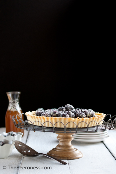 Lime Sugared Blackberry and Coconut Pale Ale Pastry Cream Tart2