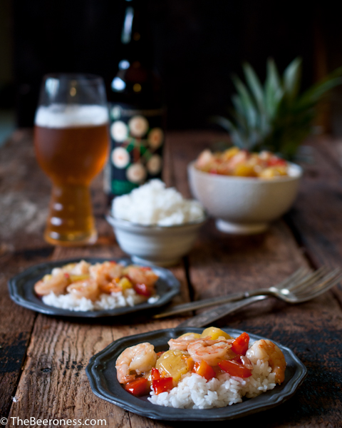 Pineapple Habanero IPA Shrimp