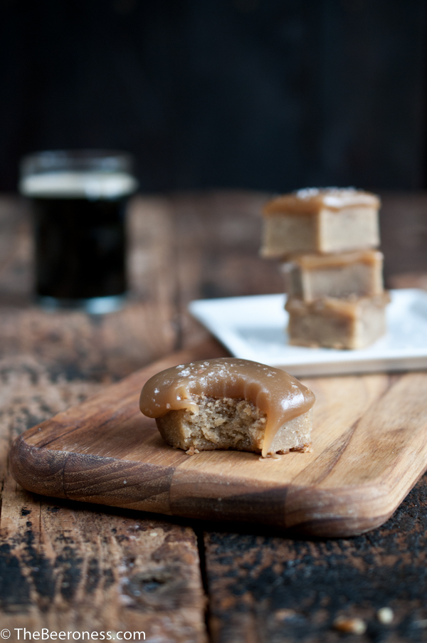 Salted Beer Caramel Topped Blondies 2