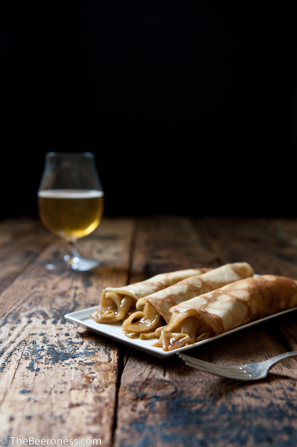 Beer Crepes with Beer Caramelized Apples 2