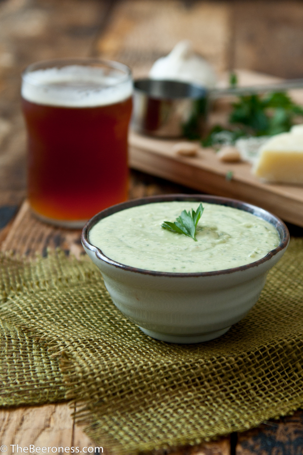 Creamy White Bean Beer Cheese Dip 3