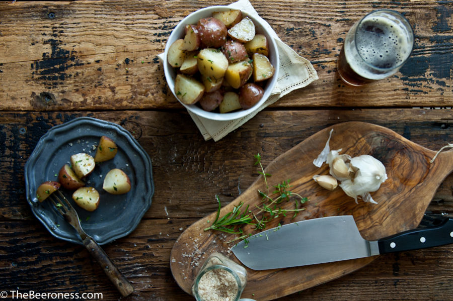 Garlic Herb Beer Butter Roasted Potatoes 2