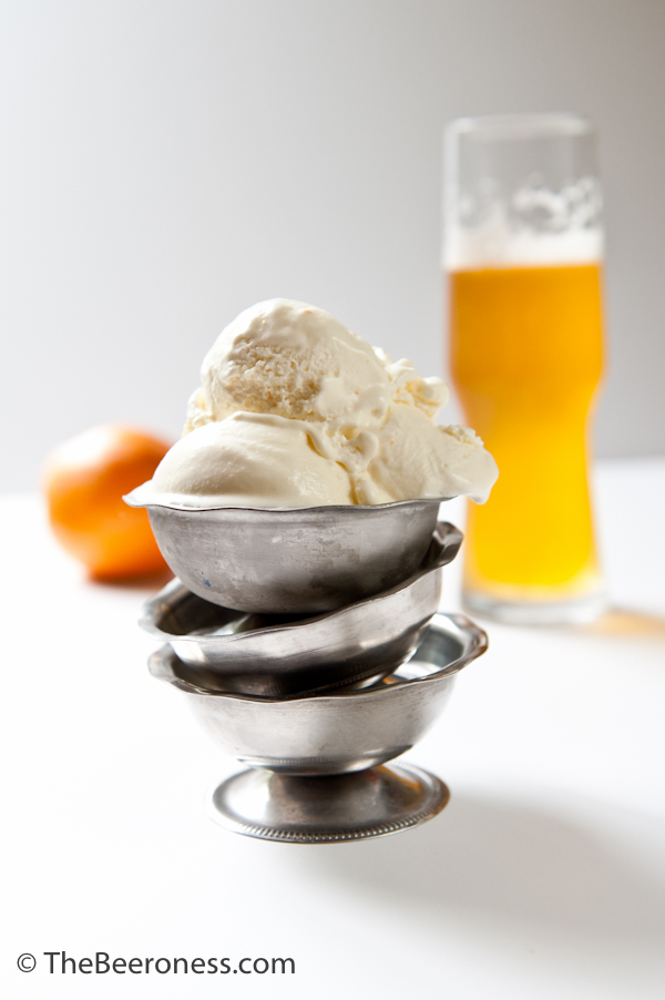 Orange Saison Sour Cream Ice Cream