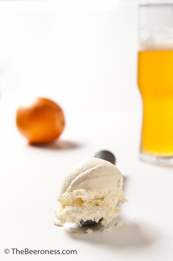Orange Saison Sour Cream Ice Cream_