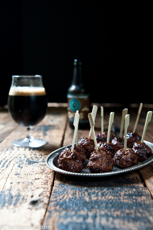 Stout Meatballs with Beer Barbeque Sauce Glaze 2