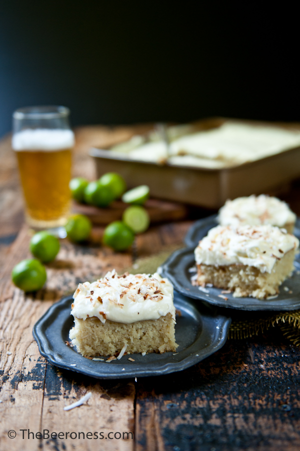 Coconut Cake with Pale Ale Lime Cream Cheese Frosting 6