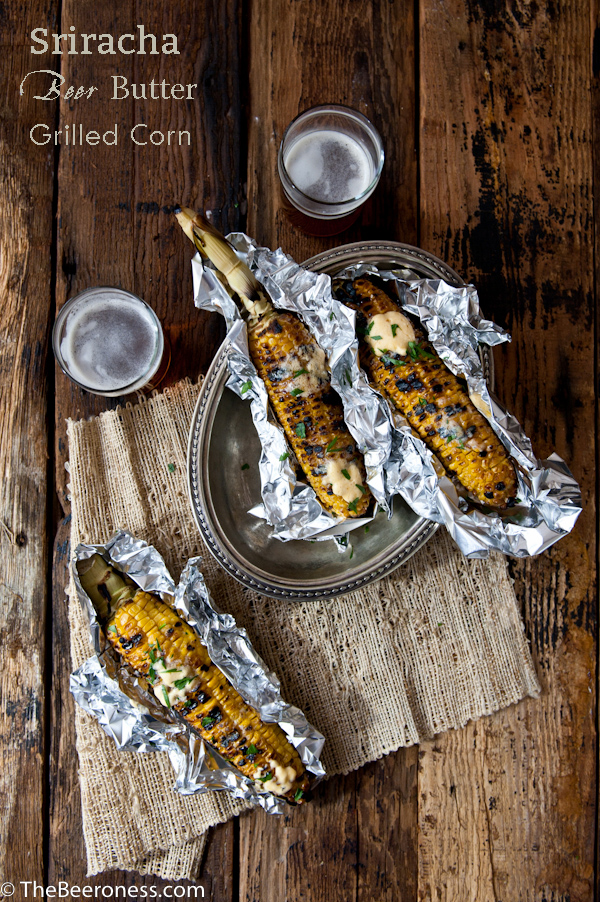 Sriracha Beer Butter Grilled Corn-P