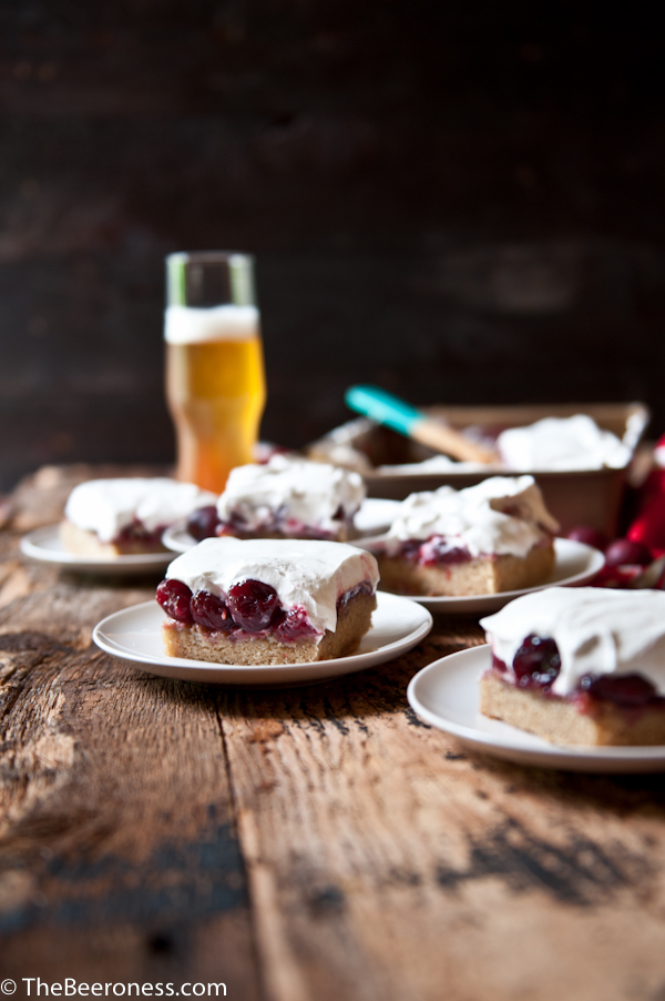 Cherry Vanilla Pale Ale Party Cake