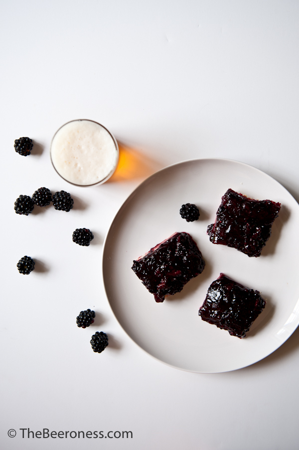 Blackberry Beer Pie Bars