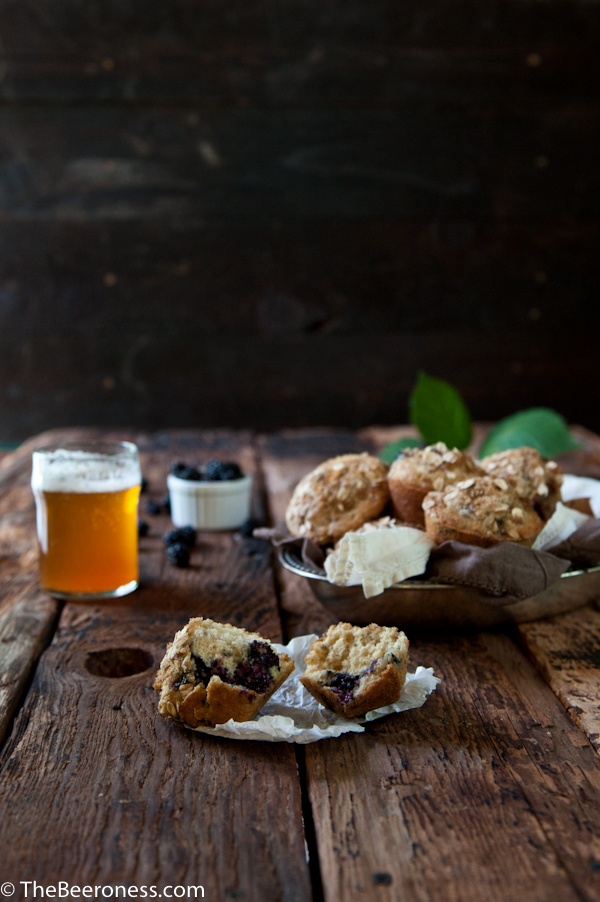 Blackberry Beer Breakfast Muffins