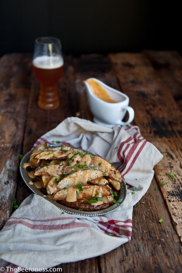 Football fries: Chipotle Beer Cheese Oven Fries_