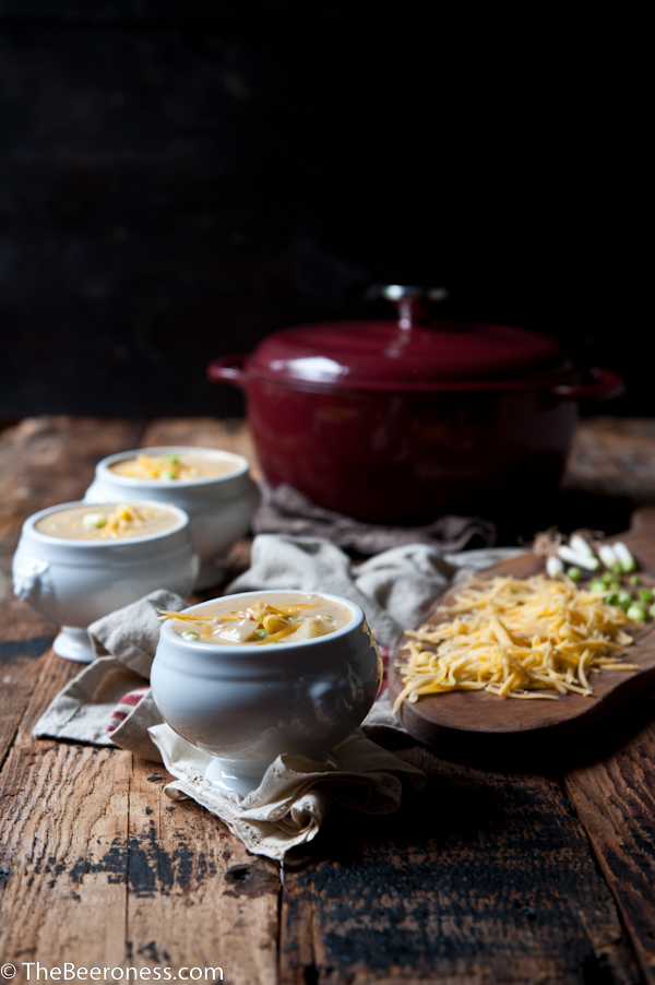 Roasted Garlic and Potato Beer Cheese Soup_