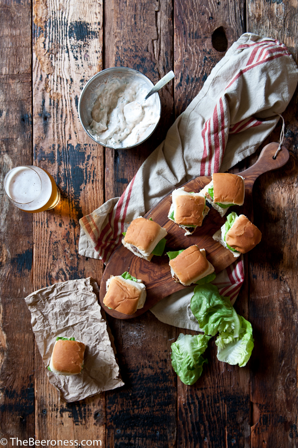 Sausage Sliders with IPA Sriracha Sour Cream 3