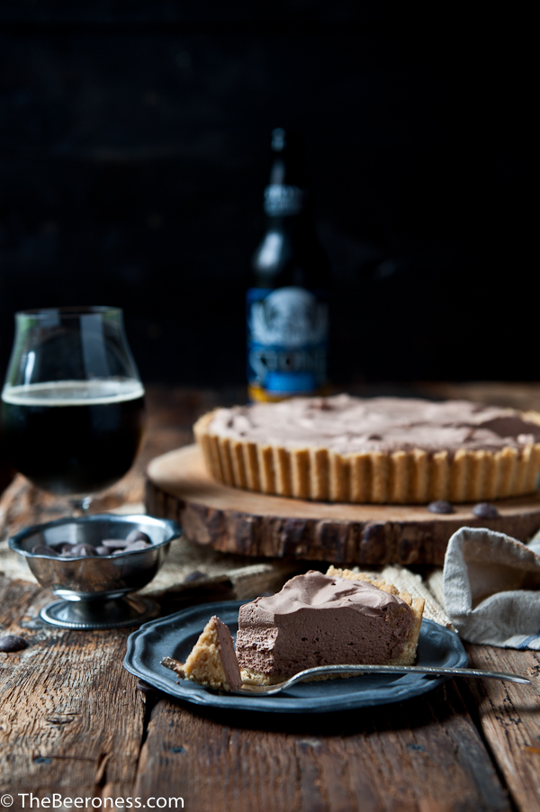 Chocolate Porter Mousse Tart with Potato Chip Crust