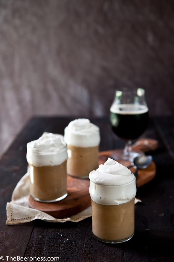 Gingerbread Ale Pudding with Beer Whipped Cream