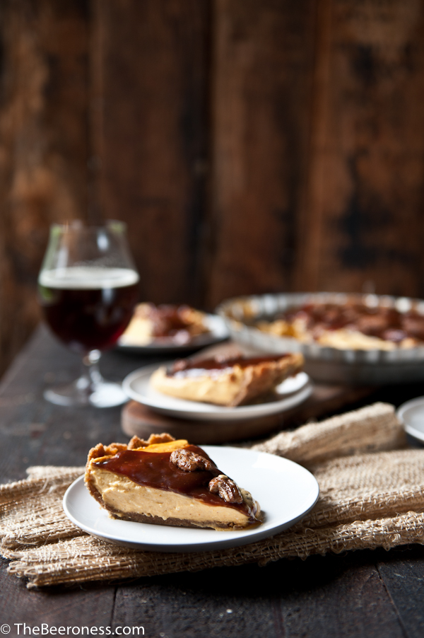 No Bake Cream Cheese Caramel Pumpkin Ale Pie2