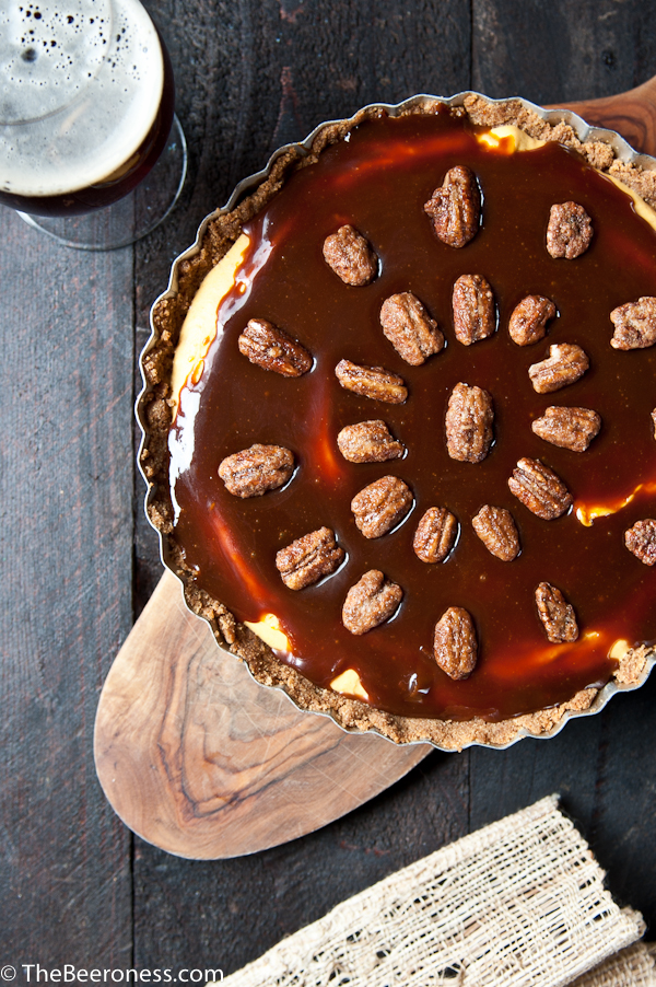 No Bake Cream Cheese Caramel Pumpkin Ale Pie3