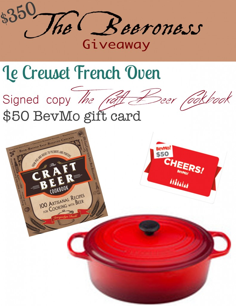 The $350 Beeroness giveaway: with @LeCreuset and @BevMo
