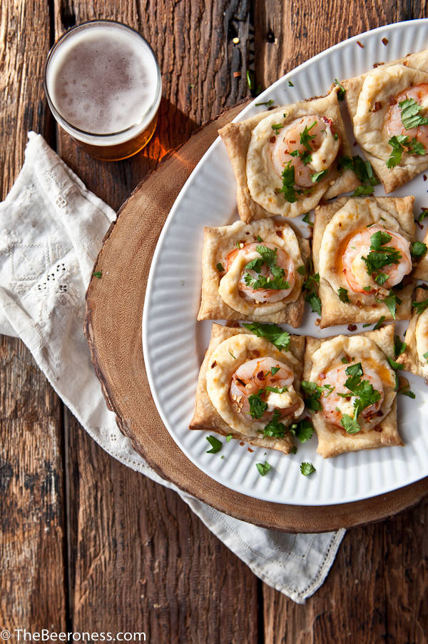 Puff Pastry Shrimp Beer Cheese Sweet Chili Bites