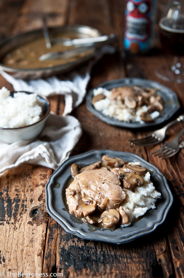 Slow Cooker Mushroom Winter Ale Chicken -1