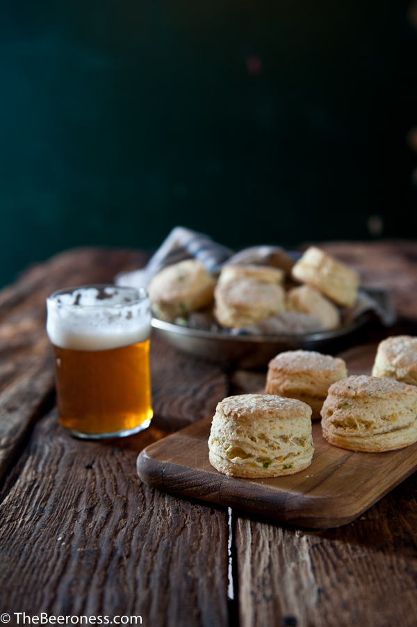 Sour Cream Cheddar Dinner Beer Biscuits-8