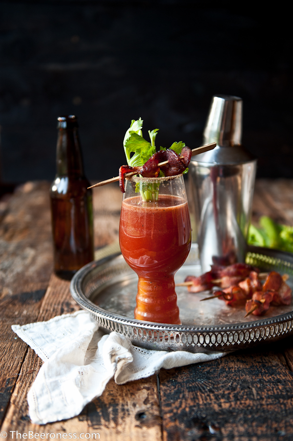 Sriracha Bloody Beer with Chili Sugar Bacon-1