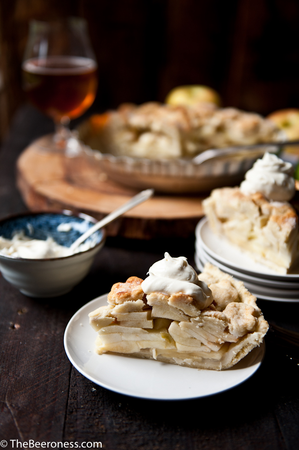 Apple Pie with Pale Ale Mascarpone Cream -1