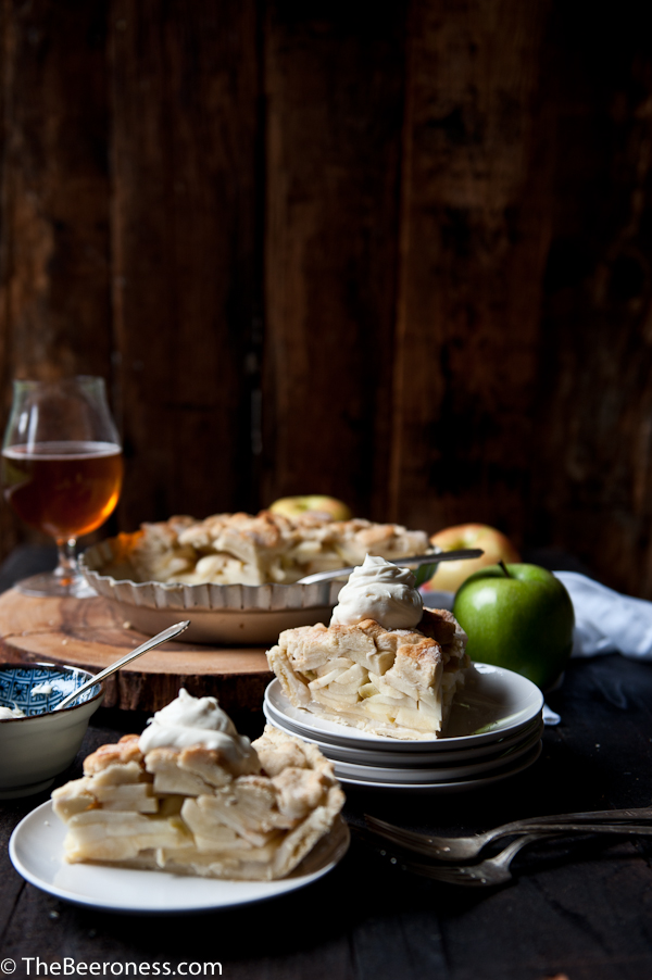 Apple Pie with Pale Ale Mascarpone Cream