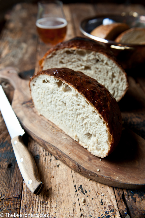 Honey Hefeweizen Boule Loaf -3