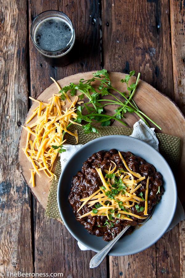 Short Rib Black Bean Beer Chili, SO GOOD. It's eat-it-out-of-the-pot-before-anyone-else-can-have-any good.