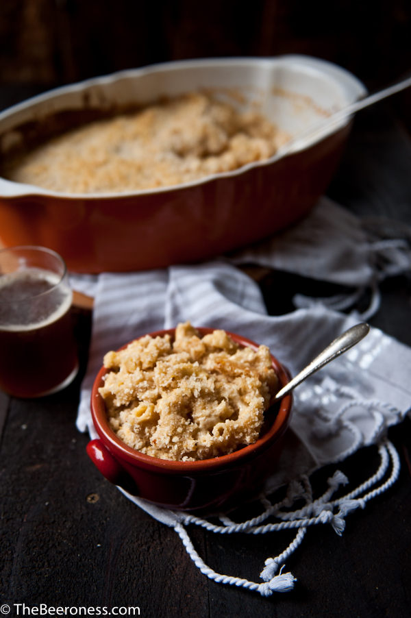 How to Make The Creamiest Baked Mac N Cheese: Gouda Cheddar Beer Mac