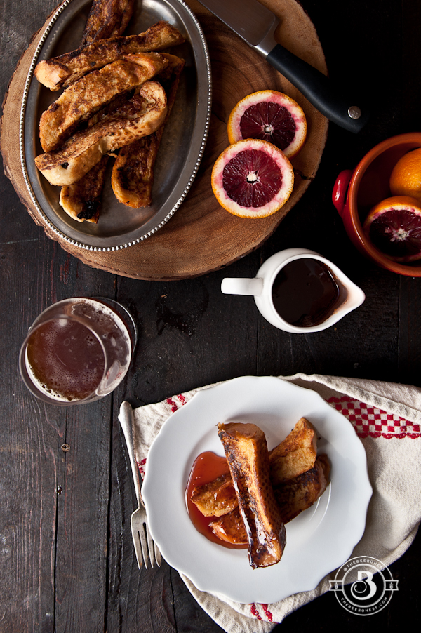 Drunk French Toast Sticks with Beer Blood Orange Syrup2-3