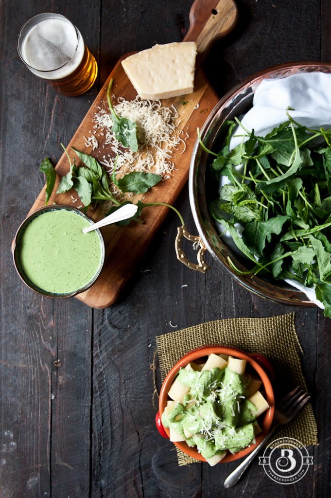Pale Ale and Baby Kale Creamy Pesto  this five minute sauce is a game changer.
