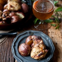 Rosemary Beer Chicken and Skillet Potatoes