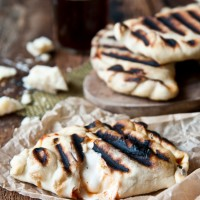 Grilled Parmesan Beer Chicken Calzones