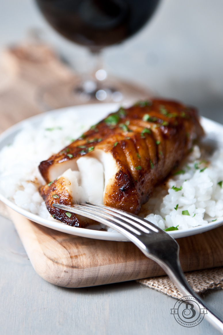 Honey Porter Glazed Cod Fillets - The Beeroness