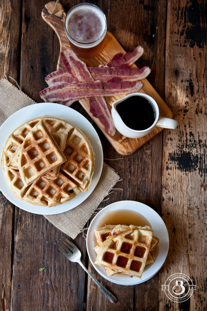 Maple Bacon Beer Waffles. Win at breakfast.
