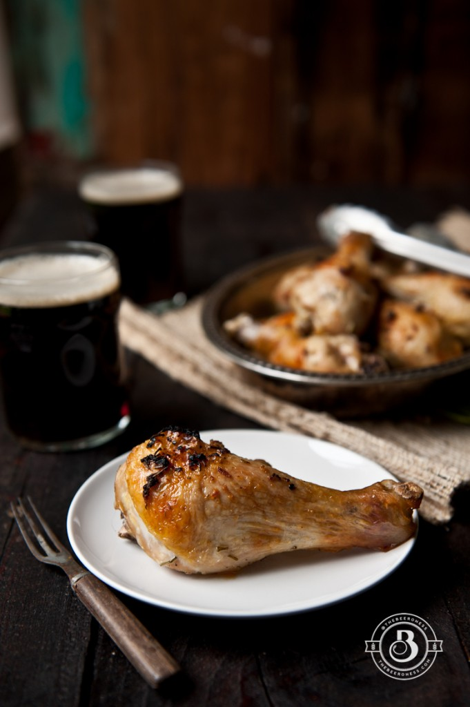 Beer Brined Roasted Rosemary Chicken Legs  -5