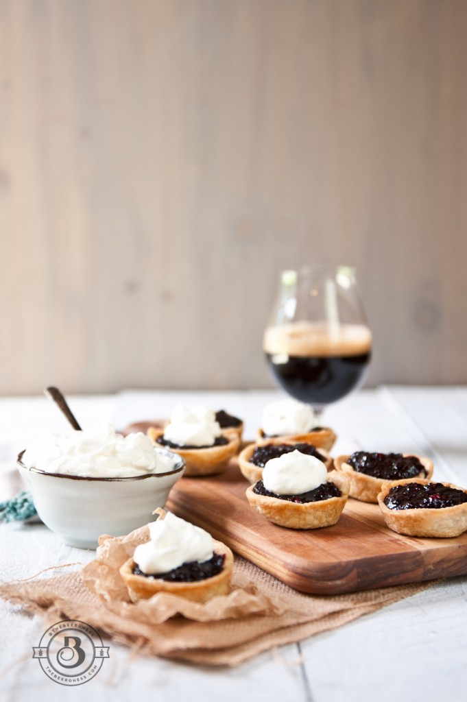 Blackberry stout mini pies -7