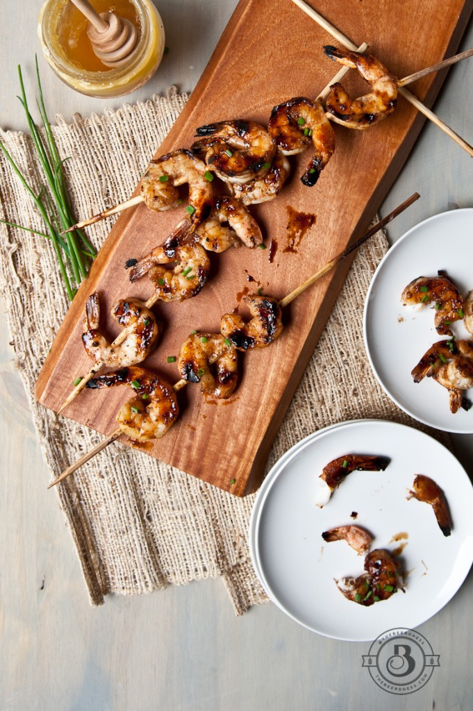 Honey Balsamic Beer Glazed Shrimp Skewers -7