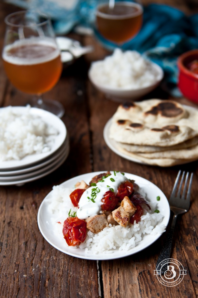 Moroccan Beer Chicken with Herb Yogurt Sauce-4