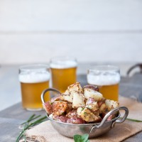 Roasted Herb Beer Mustard Potato Salad -3