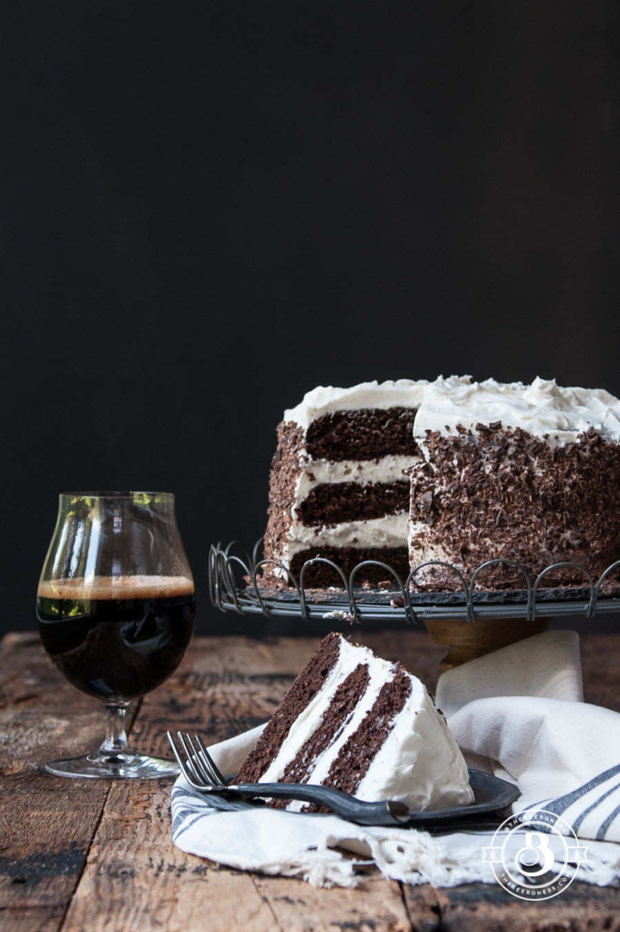 Black and Tan Stout Cake - The Beeroness