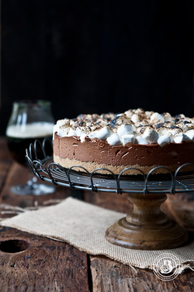 Chocolate Stout S'Mores Icebox Pie