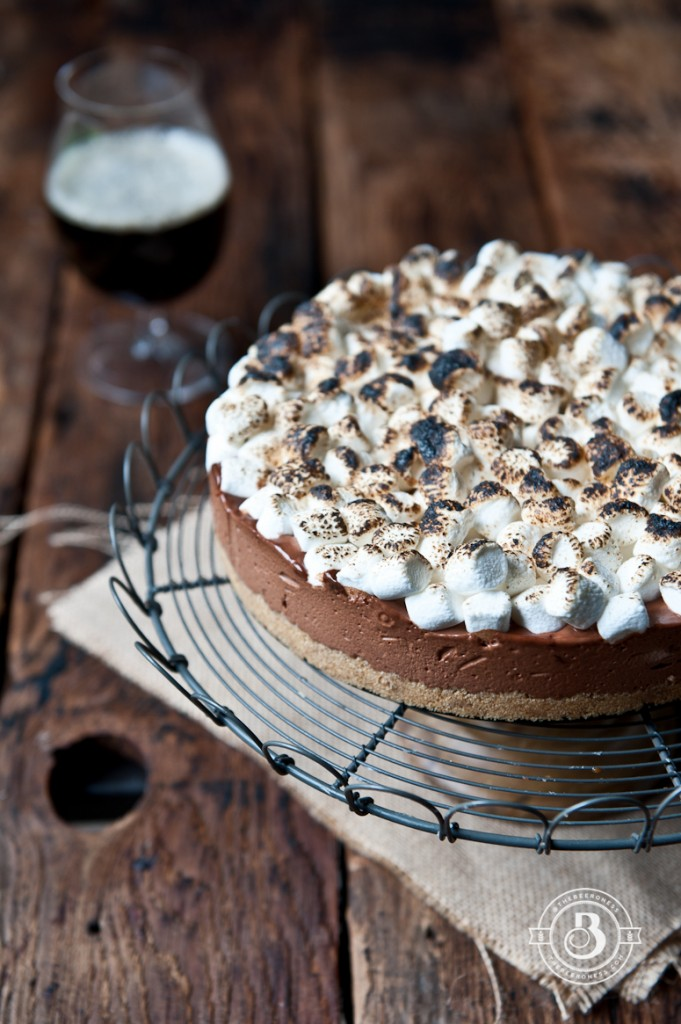 Chocolate Stout Smores icebox Pie-2