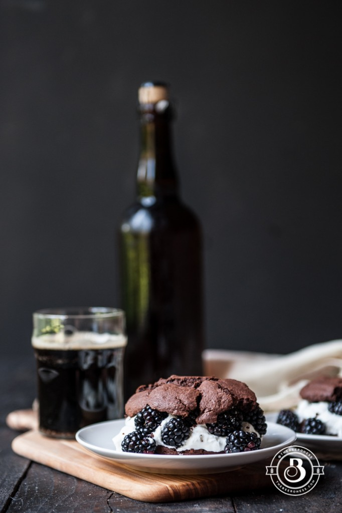Chocolate Stout & Blackberry Shortcakes