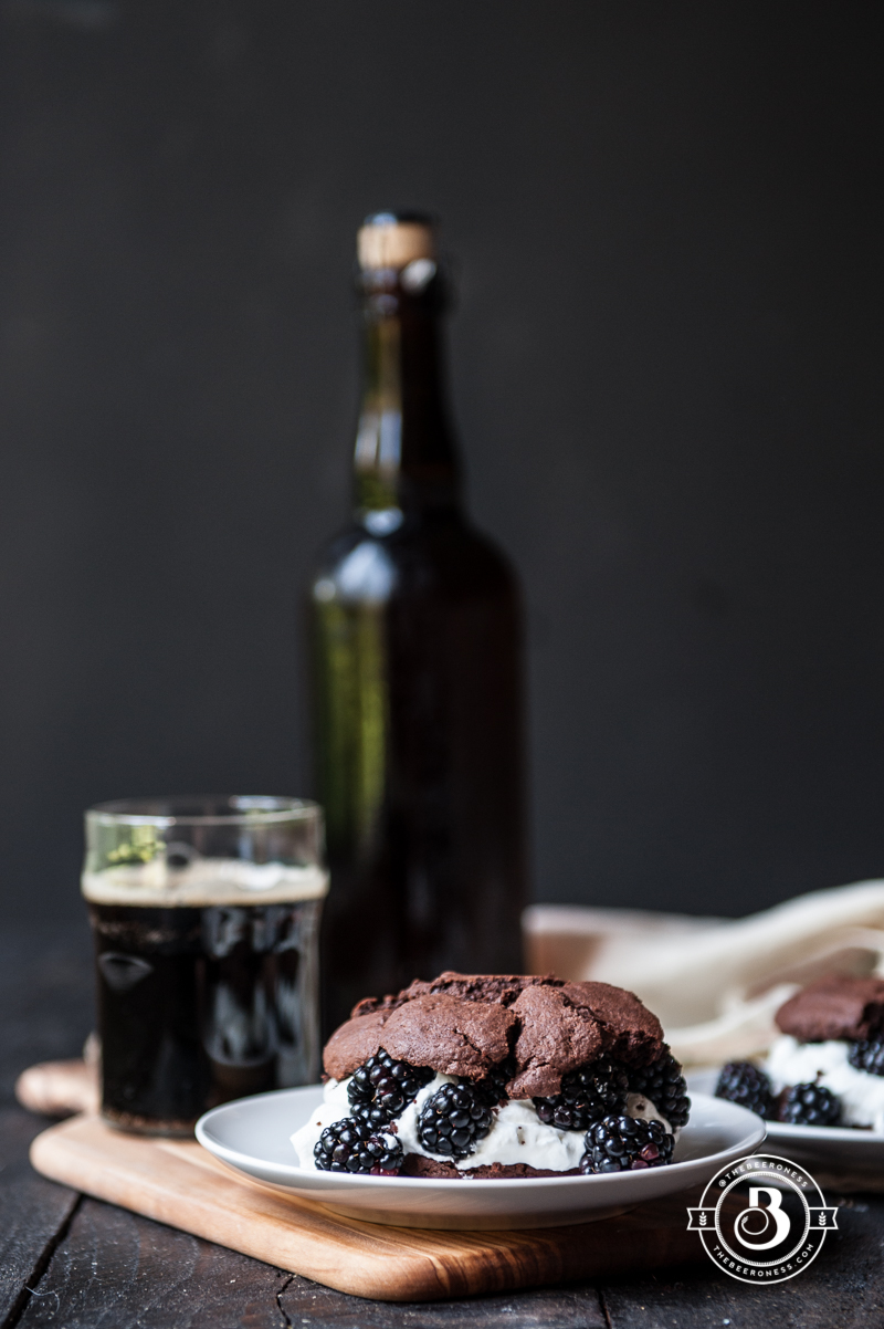 Chocolate Stout & Blackberry Shortcakes - The Beeroness