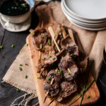 Thai Chili Stout Beef Skewers with Chili Ginger Dipping Sauce