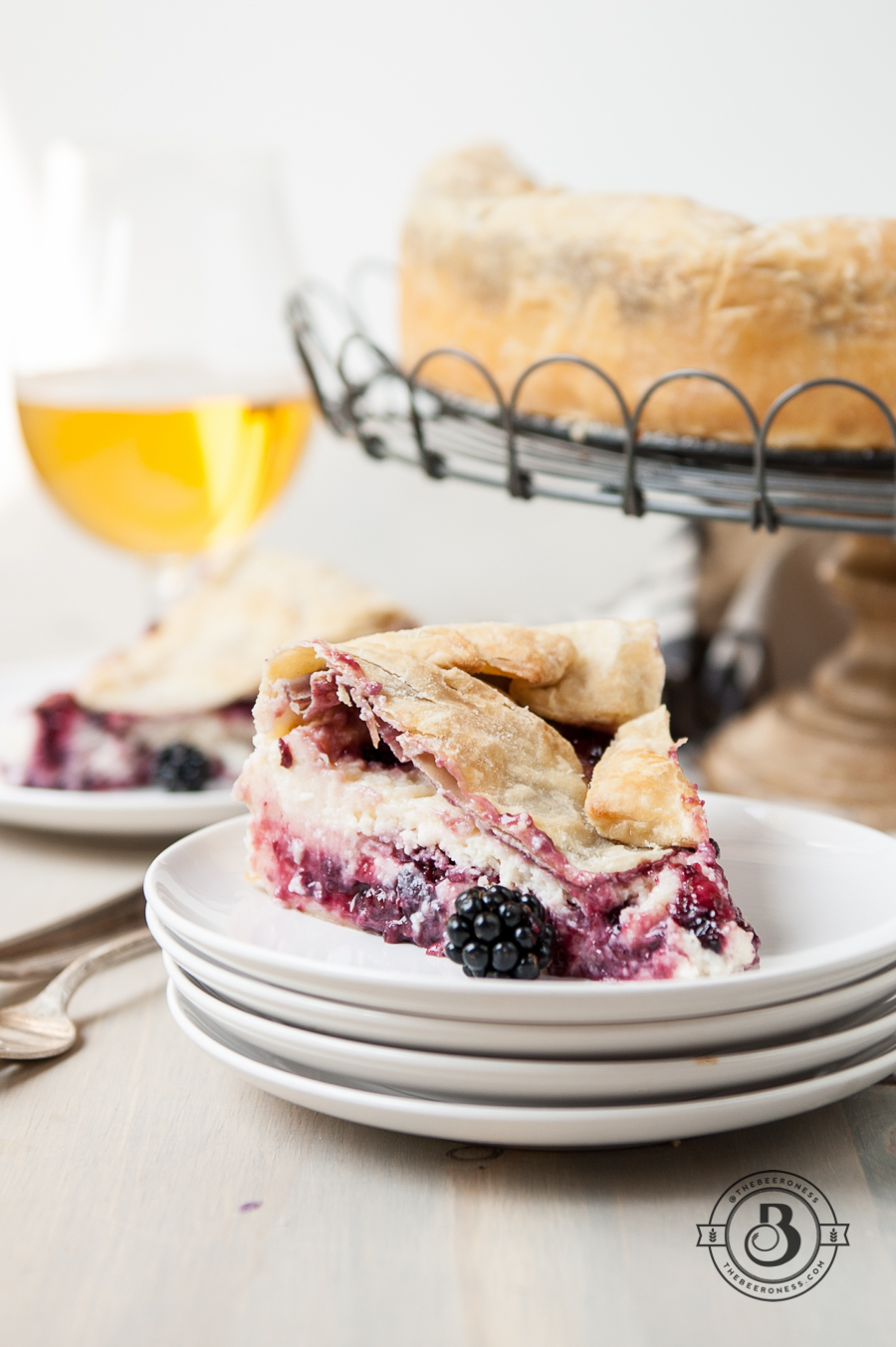 Blackberry Beer Cheesecake Tart--4