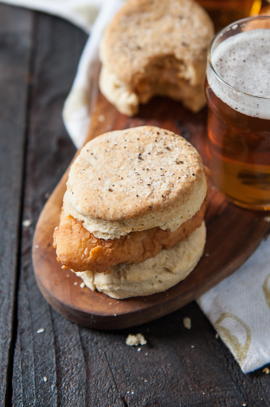 Hot Beer Fried Chicken and Pepper Biscuits -2